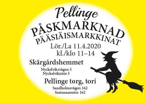 Påskmarknad Pääsiäismarkkinat 11.4.2020 Pellinge Pellinki